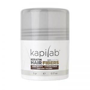 Microfibras para el cabello Kapilab color Castaño oscuro 8437017718222