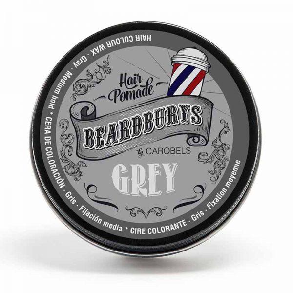 Cera de color grisde la marca Beardburys